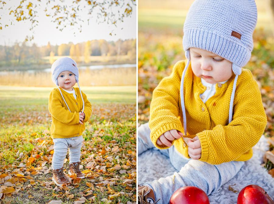 barnfoto barnfotografering höstlöv oktober rännösjön fotograf sundsvall matfors