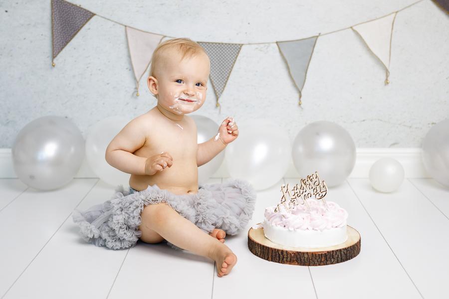 smash the cake barnfotografering barnfotograf fotograf lisa hulling matfors sundsvall